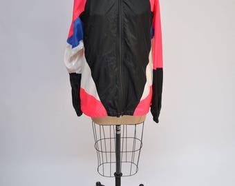 vintage NIKE jacket 1980s hip hop track warm up 80s large