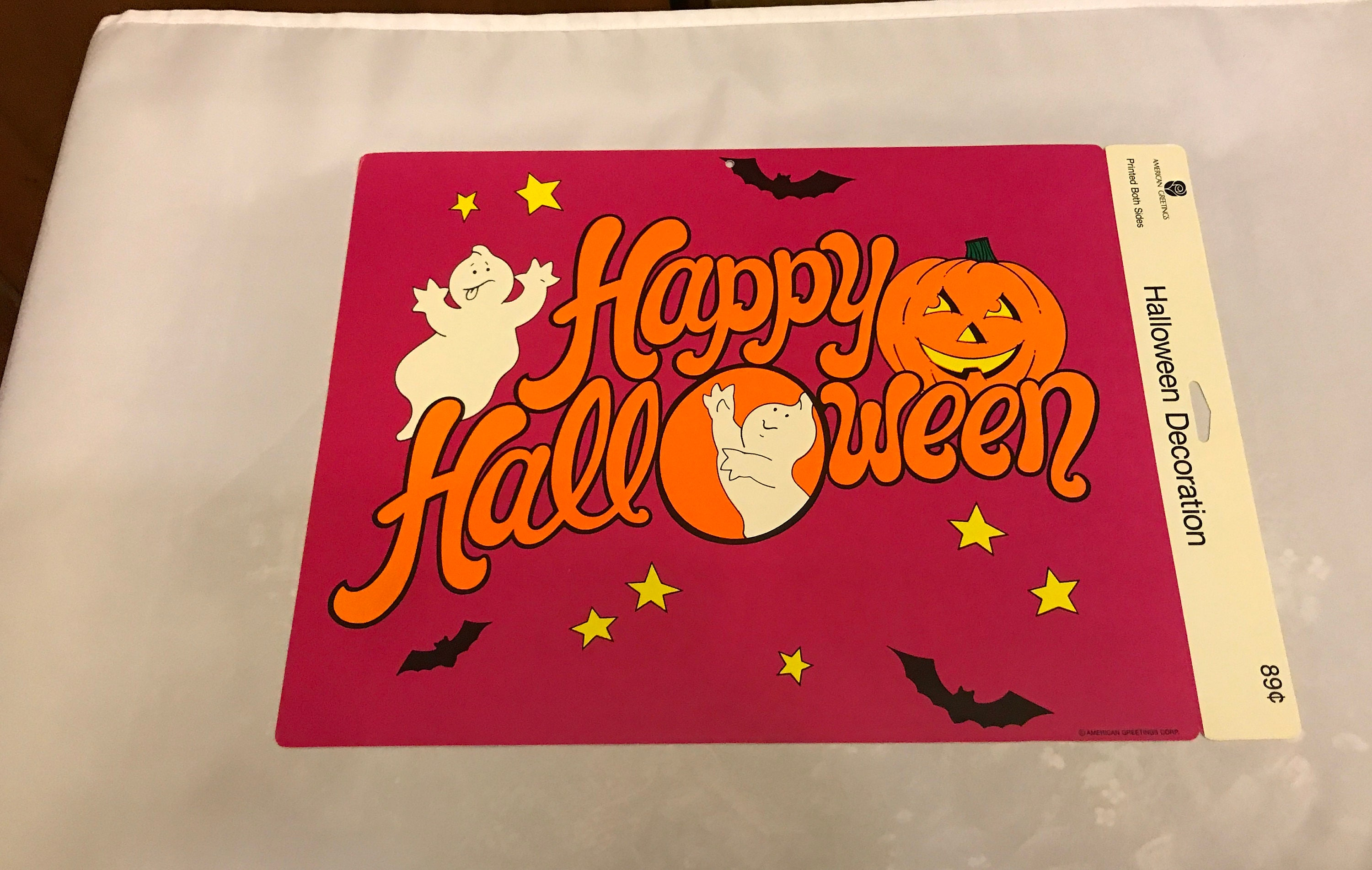 American greetings two sided happy halloween decoration ghost details this american greetings m4hsunfo