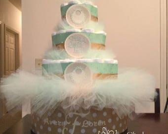 Little Lady Diaper Cake