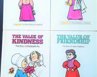 1970s/1980s Value Tale Books (set of 4)-Helping/Compassion/Kindness/Friendship