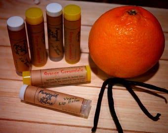 Natural Orange Creamsicle Vegan Lip Balm