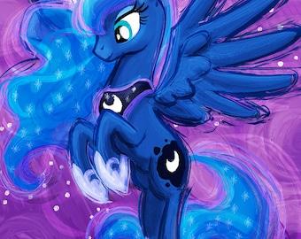 Princess Luna - My Little Pony Friendship is Magic Art Print Poster