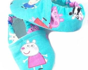 Blue Peppa Pig Shoes