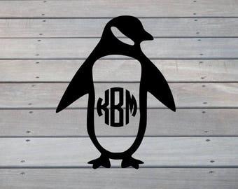 Penguin Monogram Decal