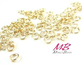 20 gauge, 4mm Gold Filled Jump Rings, 20 pcs