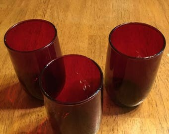 Antique Cranberry Glasses