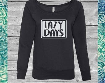 FREE shipping - Lazy Days Off the Shoulder Sweatshirt