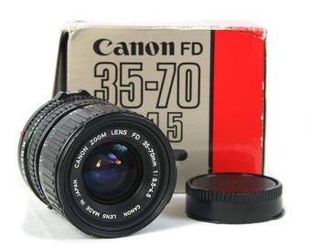 Canon FD New 35-70mm f/3.5-4.5 Zoom Lens Macro for FD/FL mount cameras