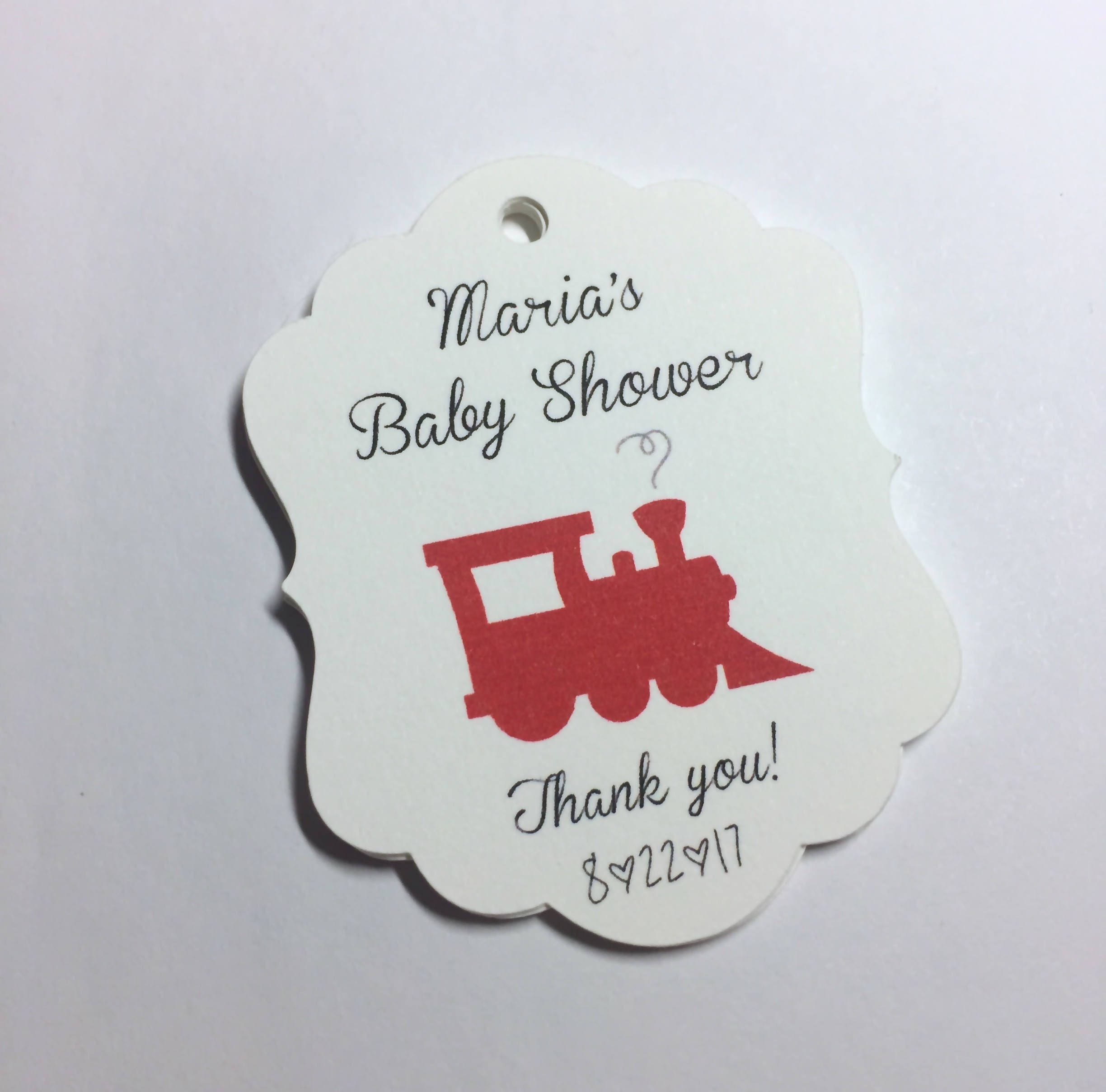 Etsy Australia Baby Gifts : Train gift tags baby shower transportation
