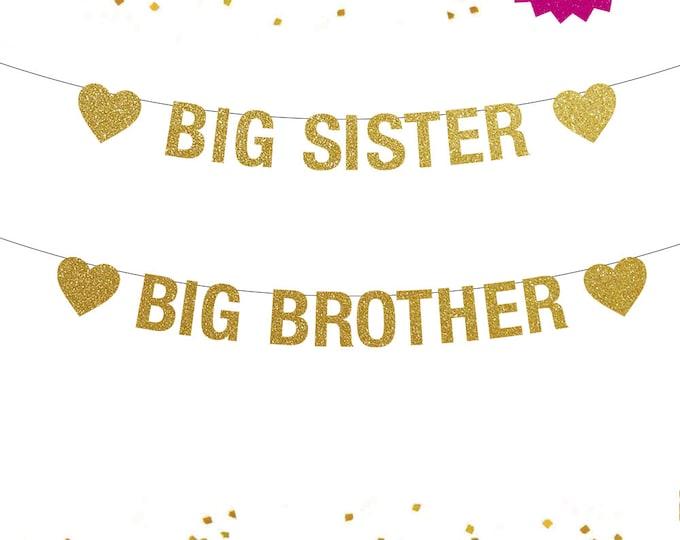 Big Sister Banner, Big Brother Banner, Sister or Brother, Big Sister Announcement, Big Brother Announcement, Big Sister Little Brother