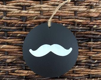 Chalk Board Mustache Ornament