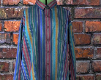 Colours by Alexander Julian Vintage 1980s Button Up Shirt