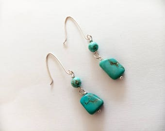 Turquoise Earrings Handmade, Dangle Earrings, Drop Earrings, Turquoise Earrings, Unique Earrings, Earrings, Jewelry, Turquoise Jewelry.