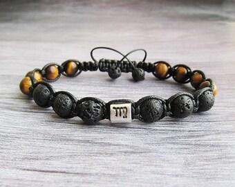 Virgo zodiac bracelet Birthstone September Birthstone Virgo bracelet Zodiac jewellery Men bracelet Astrology bracelet Zodiac gift Virgo gift