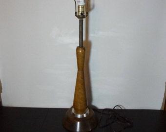 Vintage Mid Century Modern Danish Style Wood Lamp