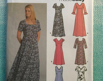 Simplicity 5189 Sewing Pattern Ladies Misses Dress Princess Seams Flutter Sleeves V-Neck Sleeveless Plus Size 16-18-20-22 Bust 38-40-42-44