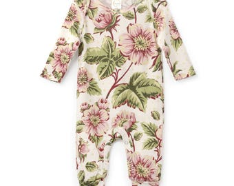 Newborn Girl Coming Home Outfit, Newborn Girl Bodysuit, Baby Girl Take Home, Newborn Girl Bodysuit Pink Floral Romper Tesababe