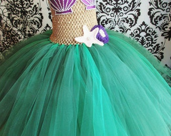 Little Mermaid Costume/Little Mermaid Dress/Halloween Costume/Mermaid Party/Mermaid Dress/Under the sea party/Girls' Dresses/Baby Girl Dress