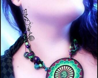 Patch Necklace: Meditation/Sun symbol
