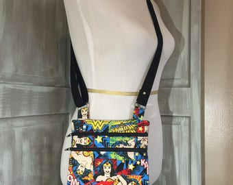 Wonder Woman  Zip and Go Crossbody with an Adjustable Strap