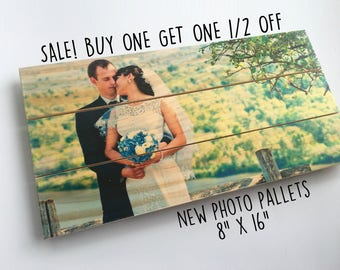 Pallet Sign, Pallet Art, Anniversary Gift, 5th Anniversary, Custom Photo Pallet, Pallet Wall Art, Rustic Home Decor, Picture Frame, Wood