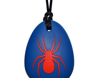 Munchables Kids Chewy Necklace - Sensory Spider Pendant Chewelry