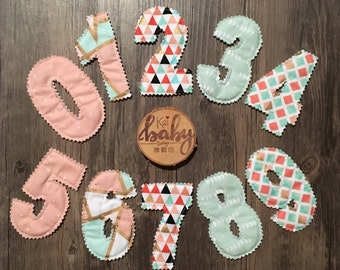 Fabric Numbers, Cloth numbers, Numerals, Education, Classroom Decor, Montessori Learning, Daycare Numbers, Teacher Gift