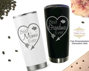 Grandma Mug - Best Grandma Ever - Mimi Mug - Best Mimi Ever - Best Nana Ever Mug - Travel Mug - Coffee Thermos - Grandma Gift Mother's day