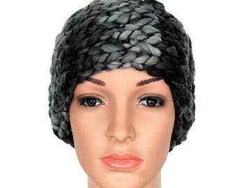 Knit Headband Black Ear Warmers Gray Knit Head Band Winter Headbands for Women Knitted Earwarmer Headbands Mom Gift from Daughter from Son