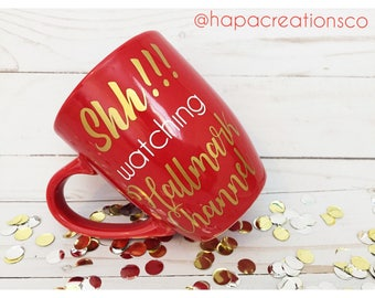 Hallmark Channel Coffee Mug / Vinyl Lettering / Custom Mug