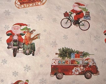 """Santa Delivery Christmas Tissue Paper #909 .. 10 large sheets ...20"""" x 30"""""""