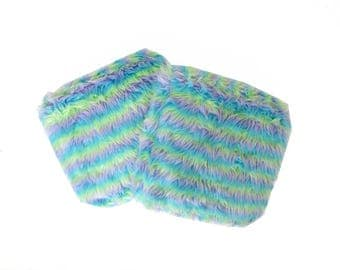 Fuzzy Furry Monster Striped Girly Lolita Pillows (set of 2)