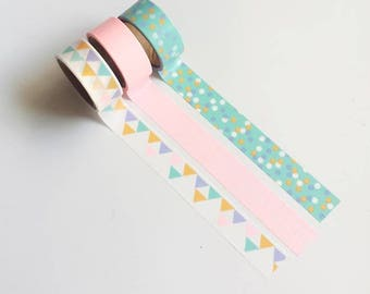Happy Birthday washi tape set (3 rolls)