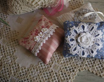 Set of three pads Lavender handmade