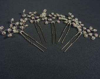 Bridesmaid hair pins, bridal hair pins, hair pins wedding, hair pins bridal, hair pins bridesmaids, pearl hair pins, custom orders welcome