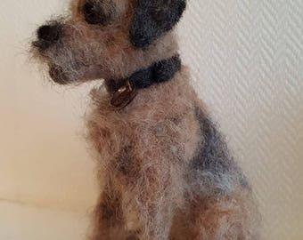 Commission only - Needle felted BorderTerrier