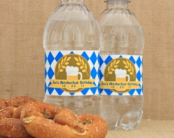 Oktoberfest Water Bottle Labels. Octoberfest Party Favors. Beer Tasting Decor. Oktoberfest Party Decorations. German Beer Festival Stickers