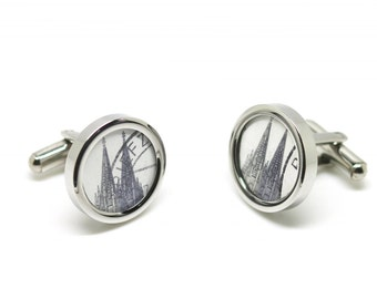 Cufflinks with Stamps Cologne Cathedrale