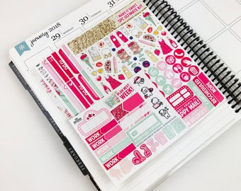 Make It Sweet // Ultimate Weekly Planner Kit (Glossy Planner Stickers)