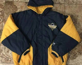 Vtg 90s SAN DIEGO CHARGERS  7 Logo Parka Hoodie Jacket