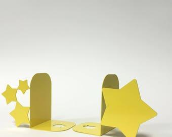 Bookends stars, yellow, storage, organize, shelf, bookends for library, kitchen bookends,bookend, dark.