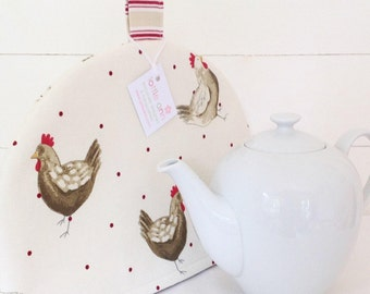 Tea Cosy, Henrietta Tea Cosy, Chickens Tea Cosy, Tea Cosy, Chickens, Chicks, Hens, Kitchen Accessory, Time for Tea! Kitchen, Gift