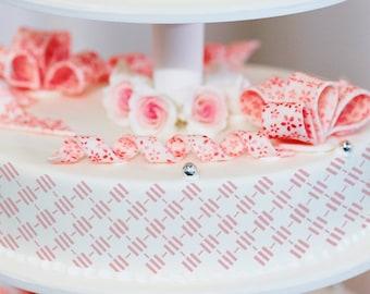 Cake Stencils- Diamond Stripe Stencil, Birthday Cake, Wedding Cake, Celebration Cake, Washable, Reusable, Dishwasher Safe, Food Safe