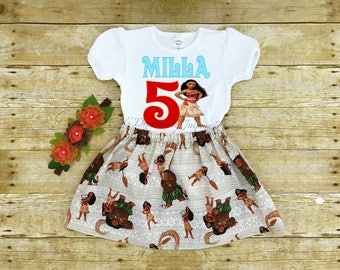 Moana Birthday Outfit, Moana Tutu, Moana Outfit, Moana Personalized Shirt, Girls Moana Shirt, Princess Shirt, Moana Birthday, Princess Moana