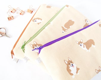 CORGI Pouch. Corgi Lover.Animal Lover Gift.Cute Dog Pouch.Dog Lover Gift.Vet Tech Gift.Vet Gift. Corgi Owner Gift. Corgi Mom.Cute Corgi Bag