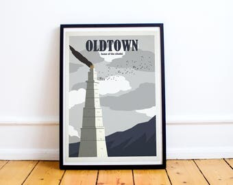 Oldtown Travel Poster - Game of Thrones Travel Poster - Citadel - Maester - Samwell Tarley (Available In Many Sizes)