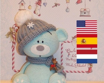 Blue teddy bear crochet pattern
