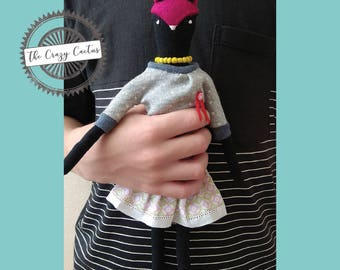 Miss Foxy · Handmade stuffed animal doll