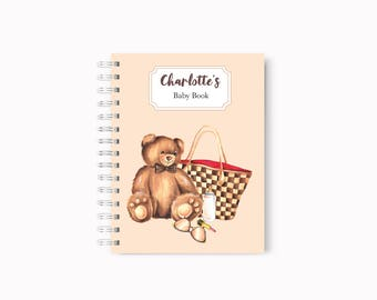 Baby book, Baby diary,Baby journal, Baby memory book, Baby record book, Fashion Baby book, Unique Baby gift, Baby shower gift, Baby gift