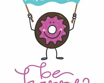 Donut Worry... Be Happy! Greeting Card